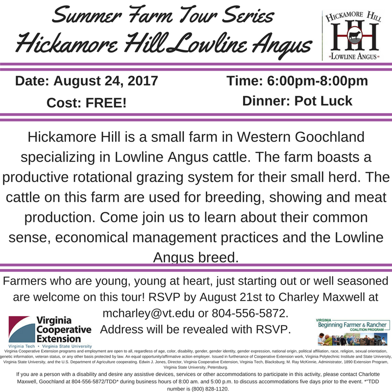Summer Farm Tour Series - Hickamore Hill